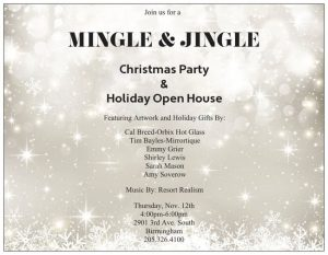 Gallery Services Mingle and Jingle Holiday Open House Invitation