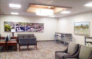 Artwork in a waiting room at Grandview Medical Center